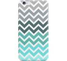 Tiffany Mint and Grey Fade Chevron Pattern iPhone Case/Skin