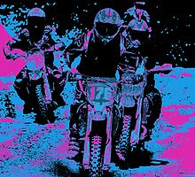 """Race On"" Motocross Dirt-Bike Champion Racers  by NaturePrints"