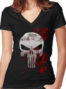 The Punisher Women's Fitted V-Neck T-Shirt