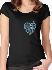 Bike Lover Heart x-ray  Women's Fitted Scoop T-Shirt