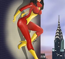 Spider-Woman Pin-Up by zombieCraig