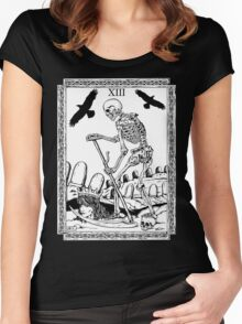 TAROT: Death Women's Fitted Scoop T-Shirt