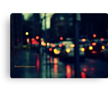 Downpour in the traffic Canvas Print