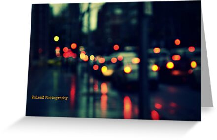 Downpour in the traffic by Zoe Harris
