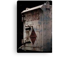 Explosive Ordnance Case Canvas Print