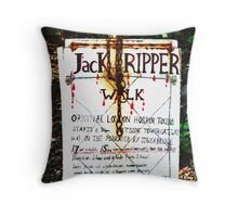 Jack the Ripper Walk Throw Pillow