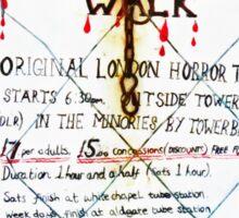 Jack the Ripper Walk Sticker