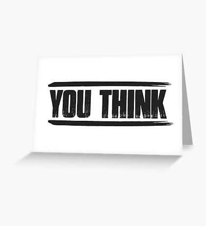 You Think SNSD Greeting Card