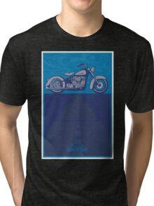 vintage harley poster  Tri-blend T-Shirt