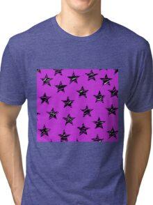 Shredded Stars - Purple Tri-blend T-Shirt