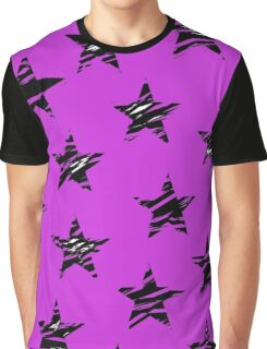 Shredded Stars - Purple Graphic T-Shirt