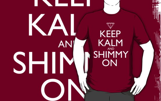 Discreetly Greek - Keep Kalm and Shimmy On by integralapparel