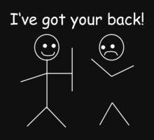 I've got your back, stick figures Kids Clothes