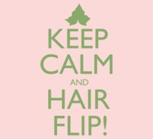 Discreetly Greek - Keep Calm and Hair Flip! by integralapparel