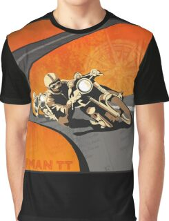 retro motorcycle Isle of Man TT poster Graphic T-Shirt