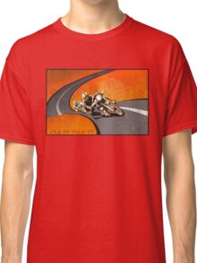 retro motorcycle Isle of Man TT poster Classic T-Shirt