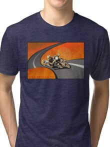 retro motorcycle Isle of Man TT poster Tri-blend T-Shirt