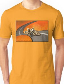retro motorcycle Isle of Man TT poster Unisex T-Shirt
