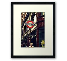 Covent Garden Underground - London Framed Print