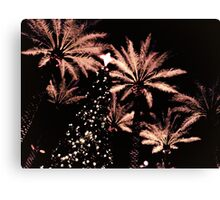 Christmas Tree and Palms Trees Canvas Print