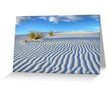 White Sands Blue Sky Greeting Card
