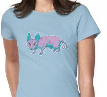 purple sphynx Womens Fitted T-Shirt
