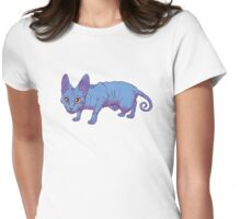 blue sphynx Womens Fitted T-Shirt