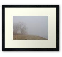 Foggy Lake Shoreline View Framed Print