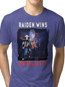 Raiden Wins Metalality (Iron Maiden) Tri-blend T-Shirt