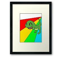 Smiling Dinosaur Framed Print