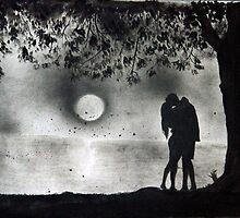 Lovers Kissing under tree by Varun Tandon