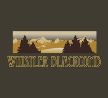 Whistler Blackcomb ski resort truck stop tee  by Tia Knight