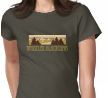 Whistler Blackcomb ski resort truck stop tee  Womens Fitted T-Shirt