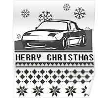 Merry Christmas miata Poster