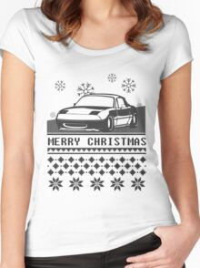 Merry Christmas miata Women's Fitted Scoop T-Shirt