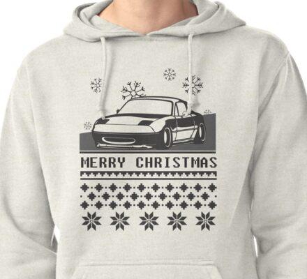 Merry Christmas miata Pullover Hoodie