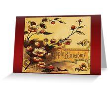 Vintage Apple Blossom Greetings Greeting Card