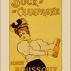 Vintage Champagne Greetings by Yesteryears