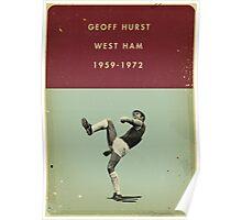 Geoff Hurst - West Ham Poster