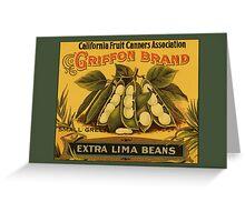 Vintage Lima Beans Greetings Greeting Card