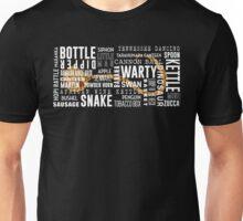 Gourd Typography (Dark Background) Unisex T-Shirt