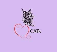 "I-pad case ""Catlovers"" - lilac edit by scatharis"