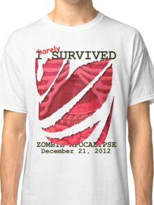 Zombie Apocalypse 2012 survivor Classic T-Shirt