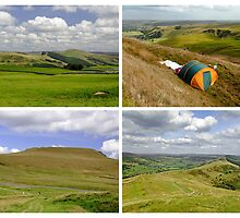 Mam Tor Collage 01 - Plain  by Rod Johnson