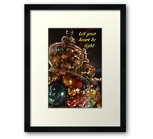 Baubles for Christmas cards Framed Print
