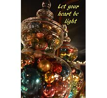 Baubles for Christmas cards Photographic Print