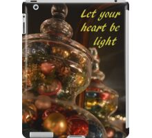 Baubles for Christmas cards iPad Case/Skin