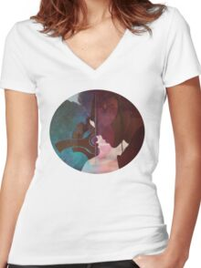 Anakin & Padme Women's Fitted V-Neck T-Shirt