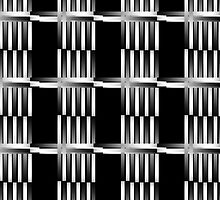 B&W pattern XII by dominiquelandau