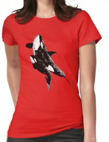 orcas t-shirt Womens Fitted T-Shirt